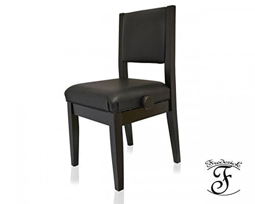 Frederick Economy Adjustable Piano Chair - Ebony Satin