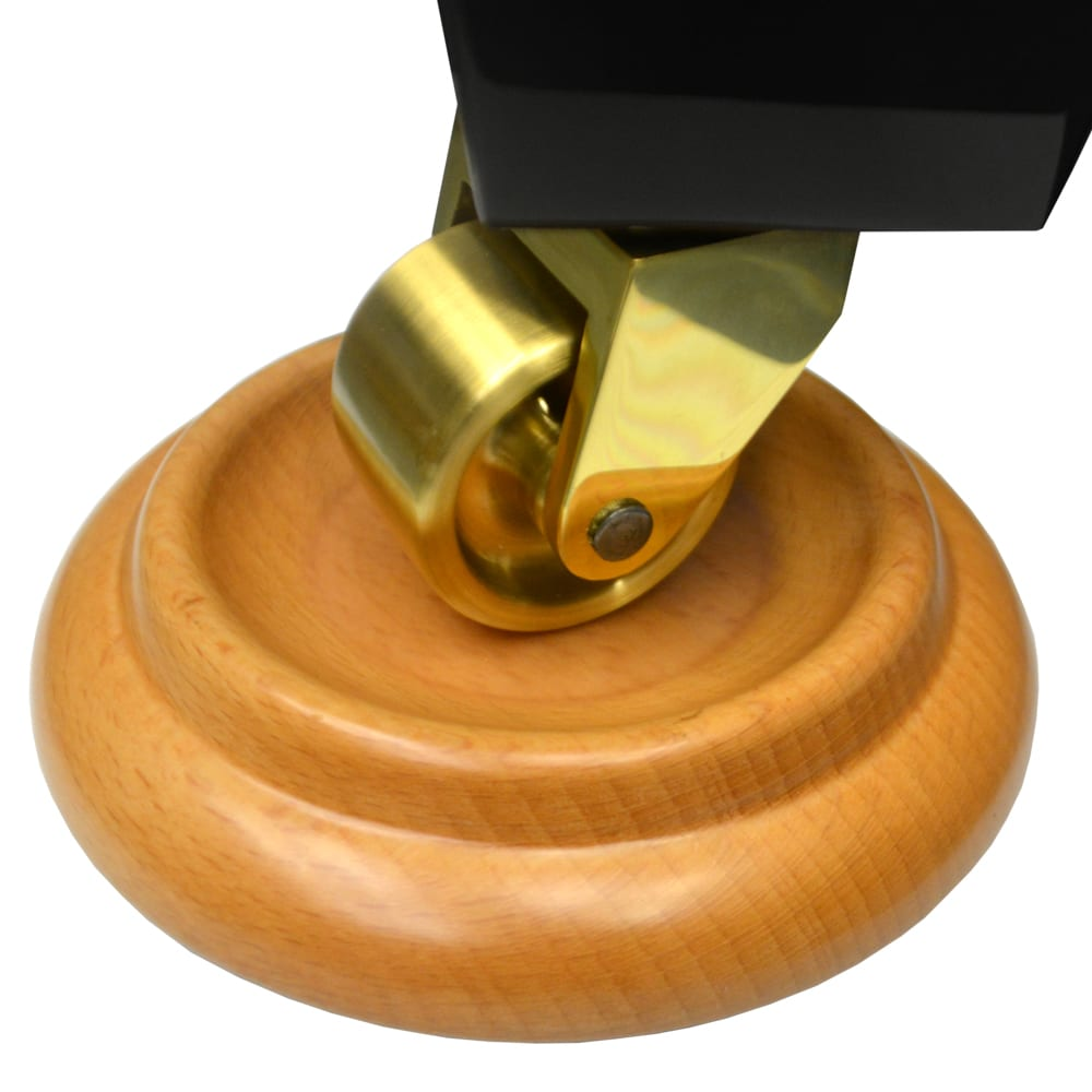 Premium Wood Piano Caster Cups - Natural