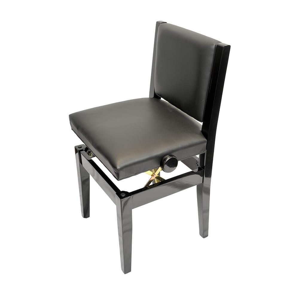 Frederick Adjustable Studio Piano Chair - Ebony Polish