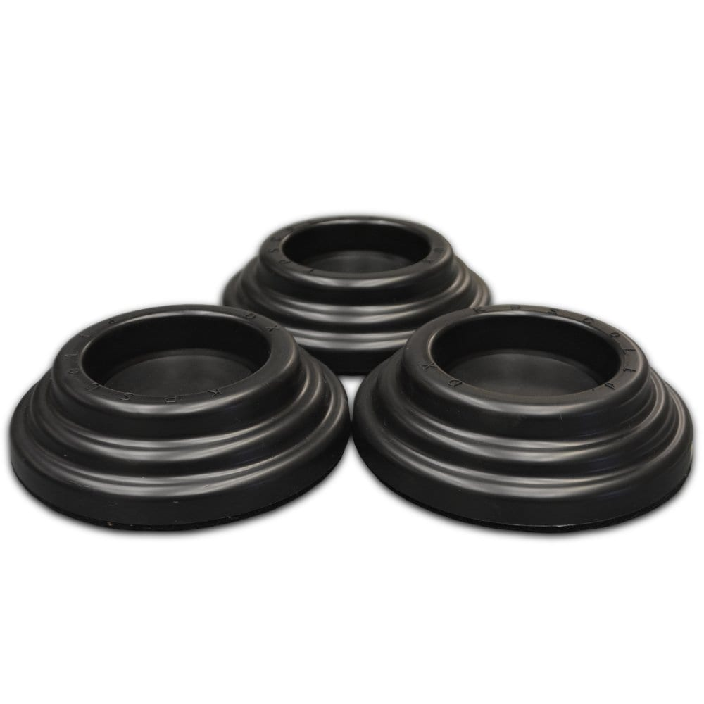 Premium SBR Rubber Piano Caster Cups - Black