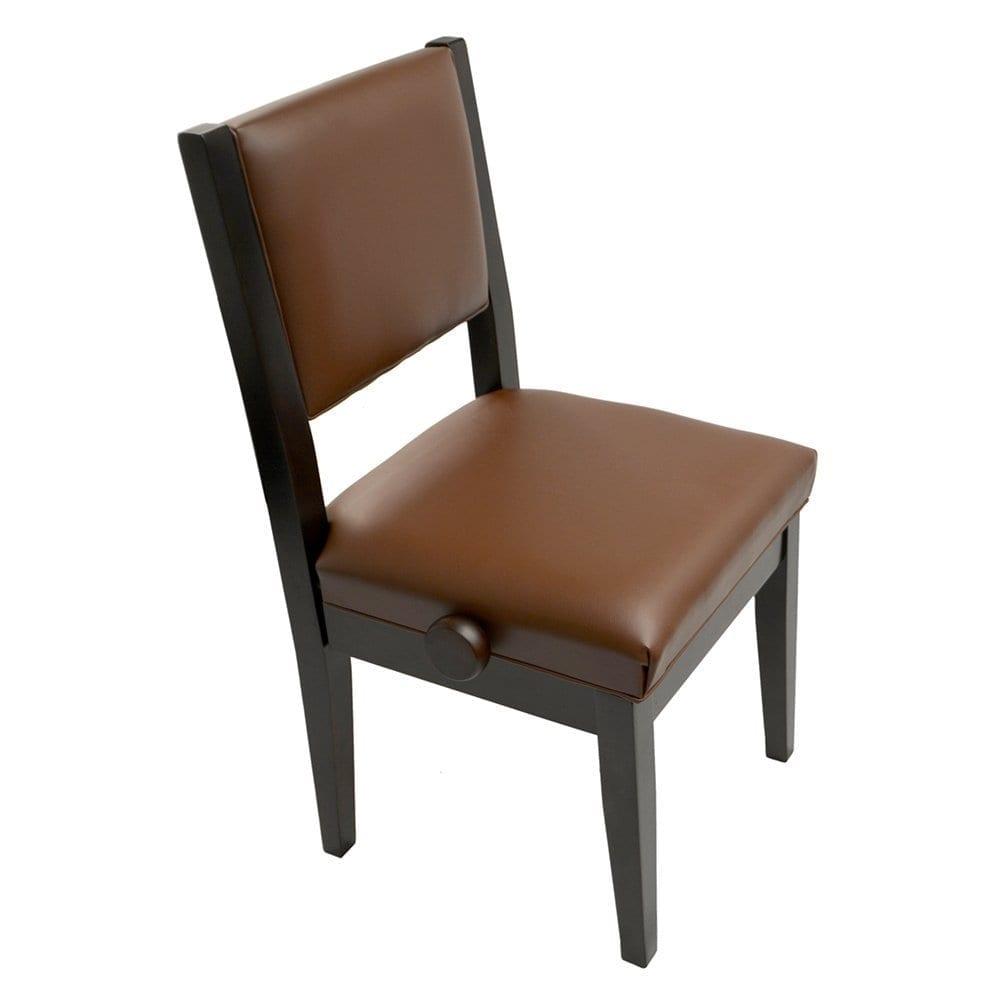 Frederick Studio Padded Adjustable Piano Chair - Walnut