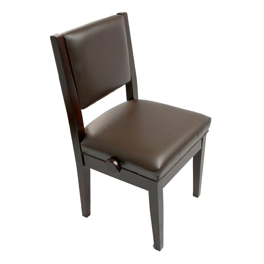 Frederick Studio Padded Adjustable Piano Chair - Mahogany