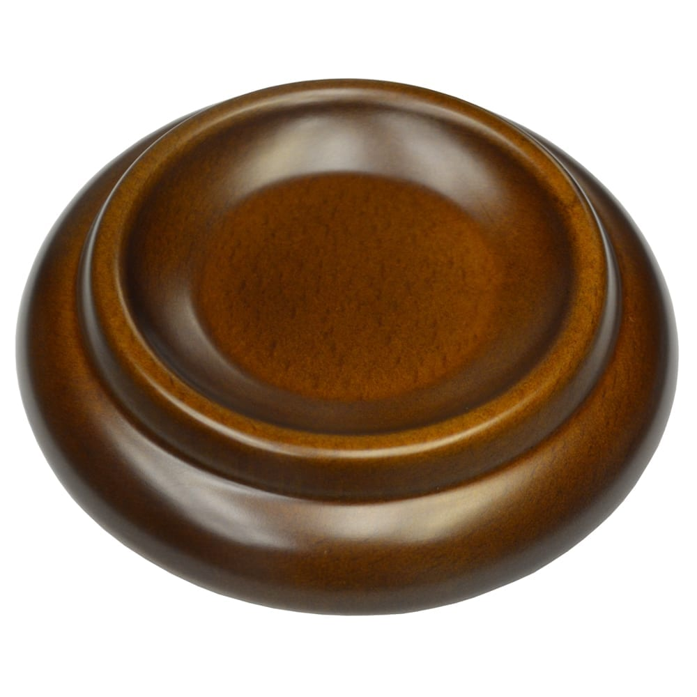 Premium Wood Piano Caster Cups - Walnut