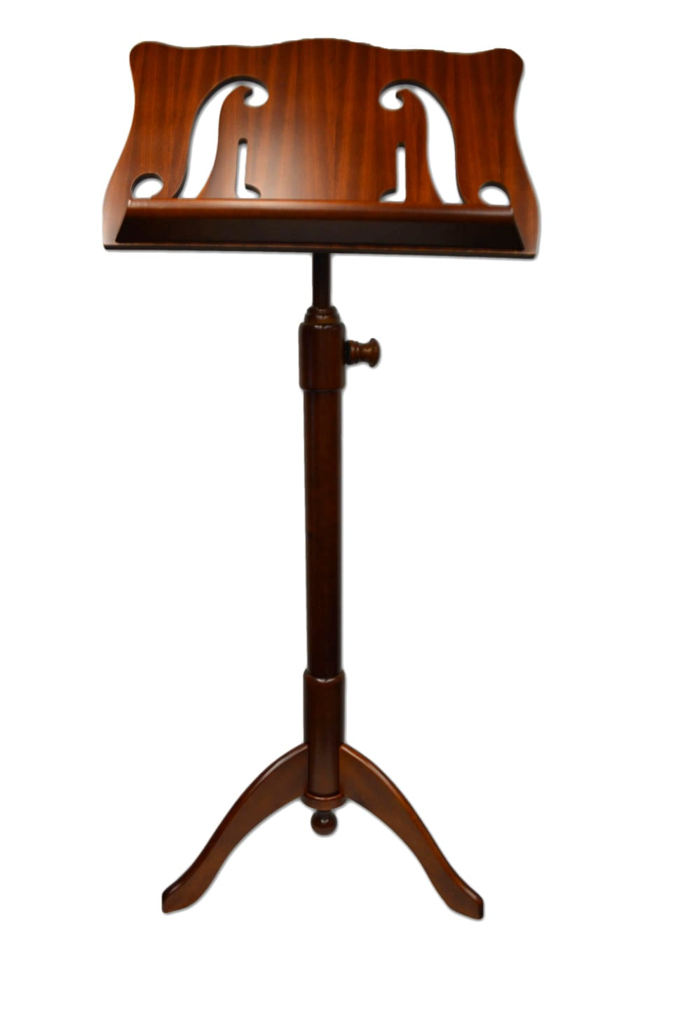 Frederick Walnut Music Stand - Violin F-Holes & Music Notes