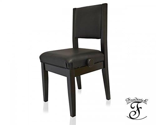 Frederick Economy Adjustable Piano Chair - Ebony Satin