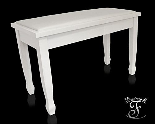 Frederick Duet Piano Bench - White Polish