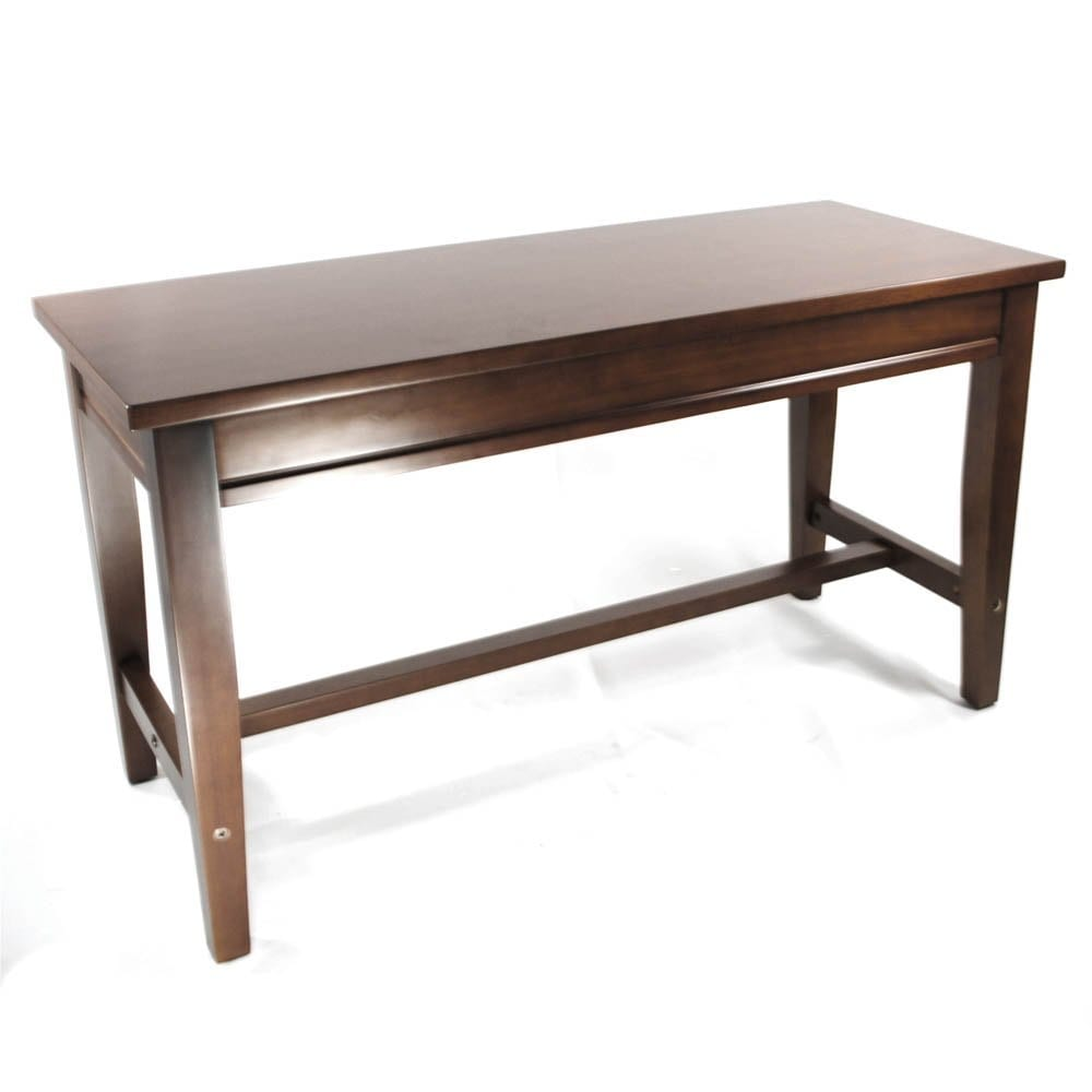 Frederick Extended Upright Piano Bench - Walnut Satin