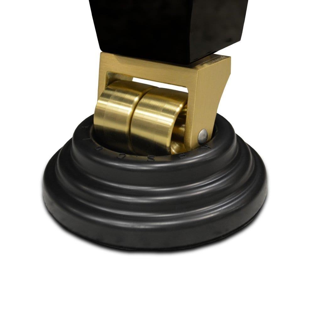 Premium SBR Rubber Piano Caster Cups - Black