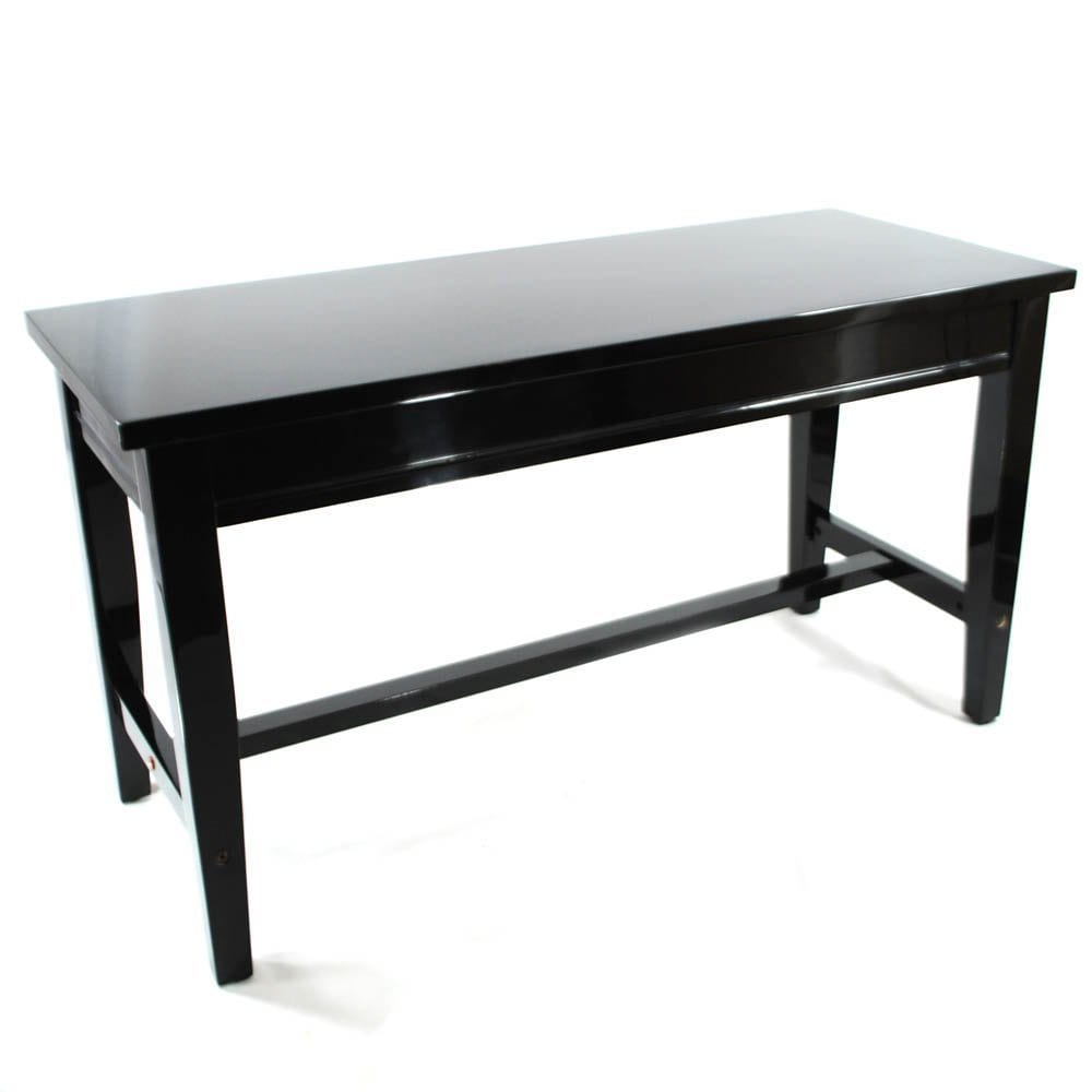Frederick Extended Upright Piano Bench - Black Polish