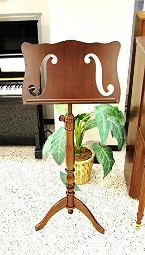 Frederick Art Case Adjustable Music Stand - F-Hole Design - Satin Walnut