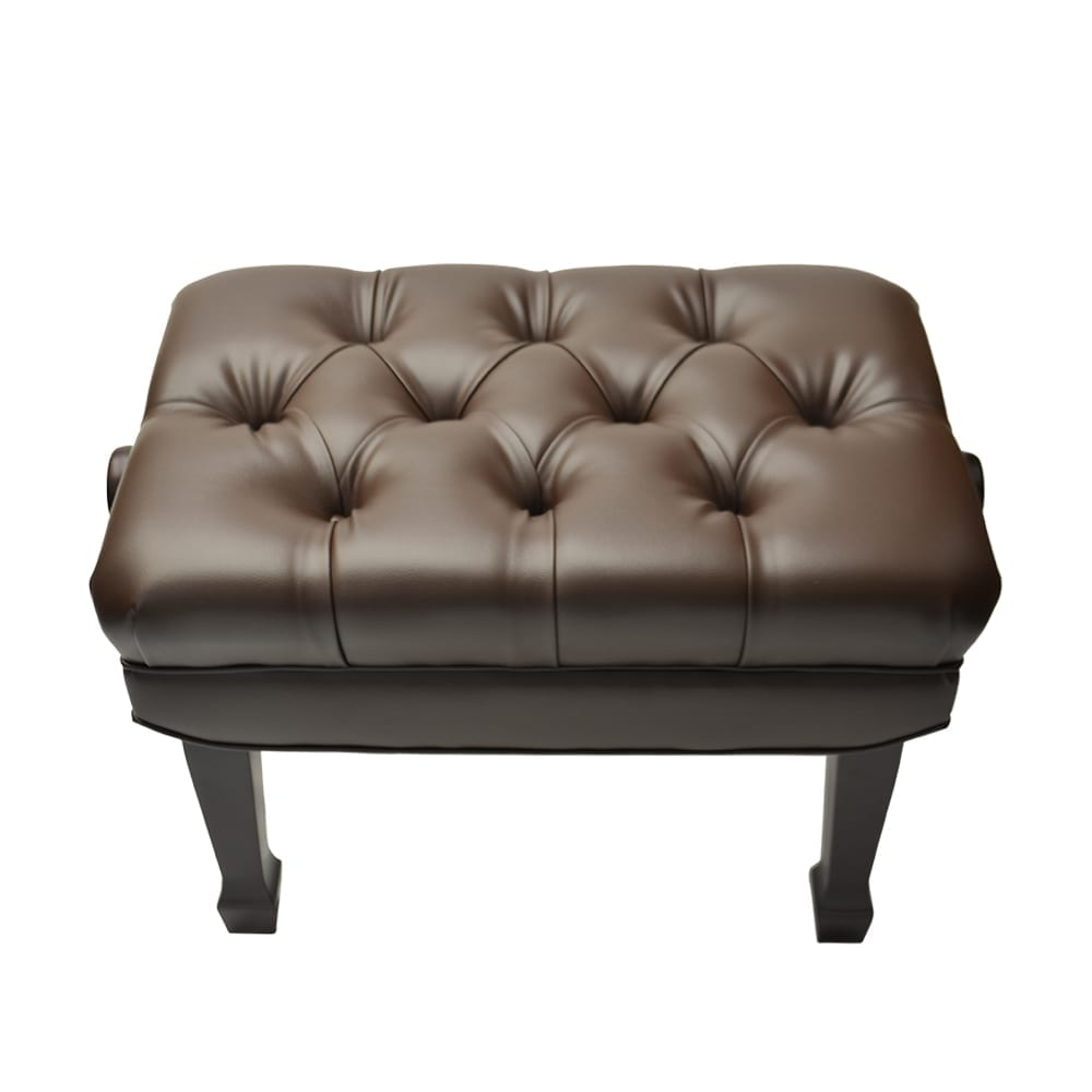 Frederick Adjustable Concert Series Tufted - Mahogany Polish