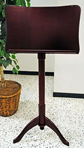 Frederick Art Case Adjustable Music Stand - Prussian Design - Cherry Mahogany