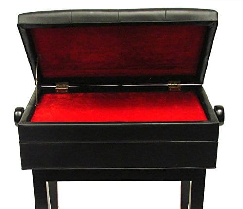 Frederick Artist Adjustable Piano Bench - Ebony Polish