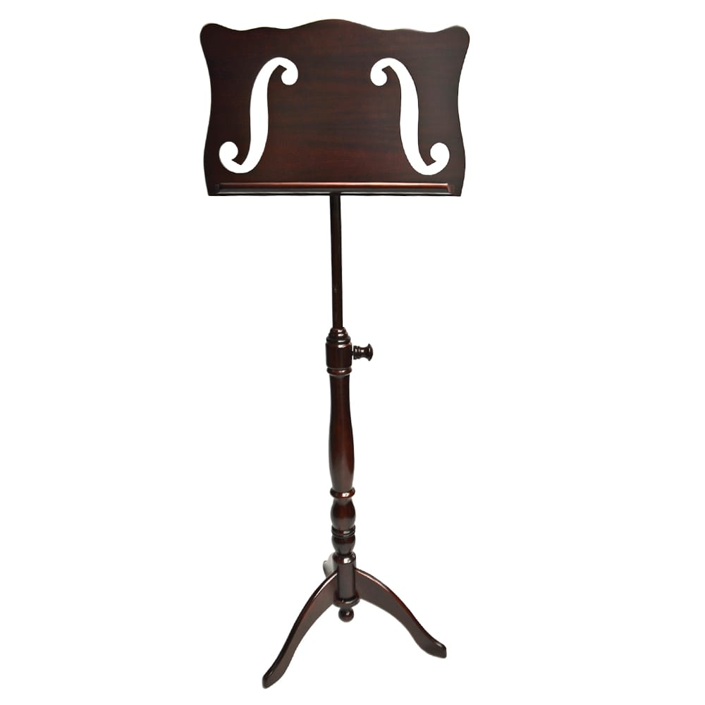 Frederick Adjustable Music Stand - Cherry Mahogany F-Hole
