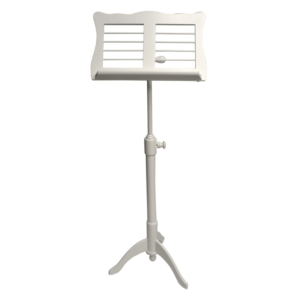 Frederick Adjustable Music Stand - White Satin Ivy League