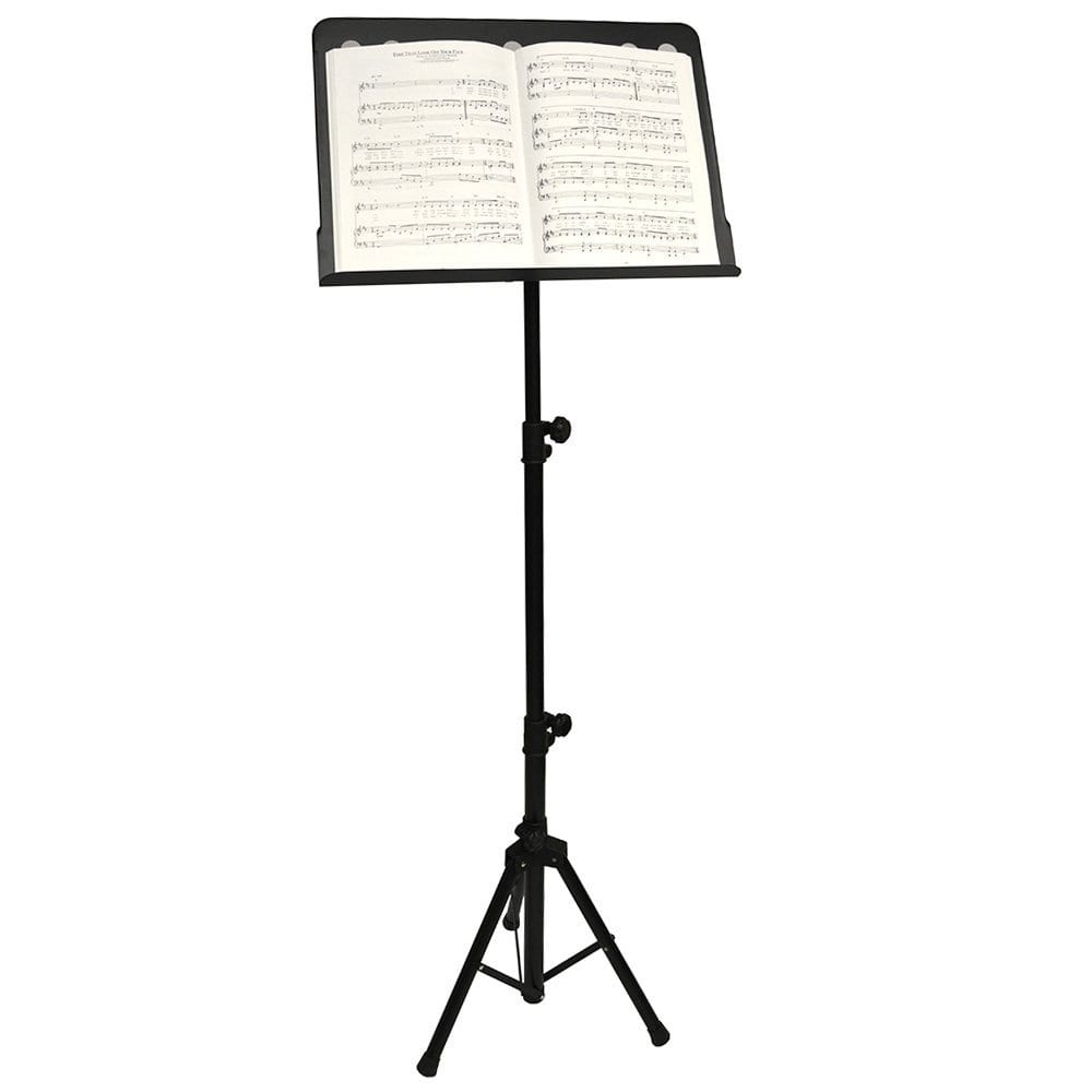 Frederick Grip & Go HD Music Stand - Perforated Steel - Satin Black