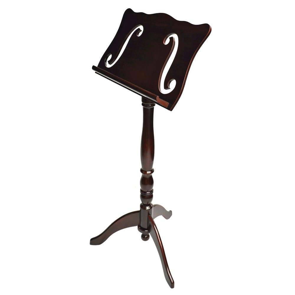 Frederick Adjustable Music Stand - Cherry Mahogany F-Hole