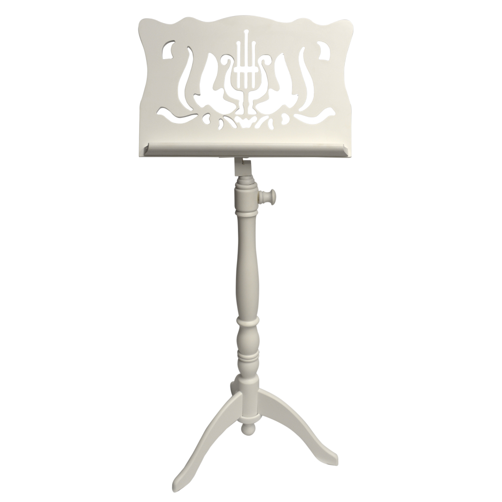 Frederick Adjustable Music Stand - White Satin Design