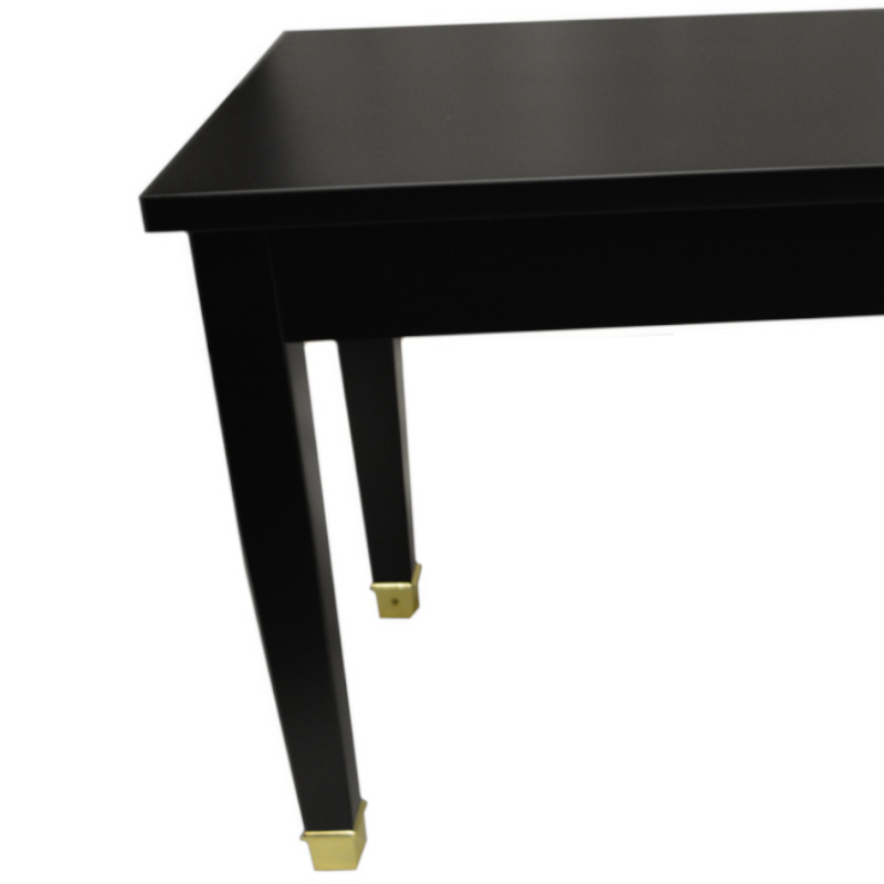 Frederick Professional Studio Hard Top Piano Bench -Ebony Satin w/Brass Ferrules