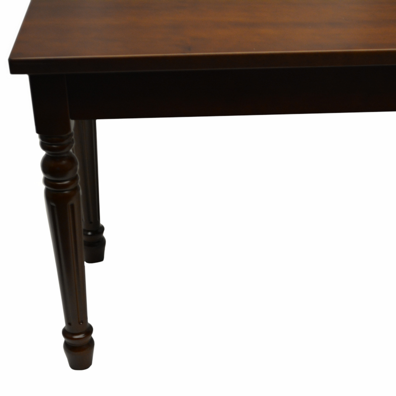 Frederick Duet Piano Bench - Walnut Satin Hard Top w/ Louis Legs
