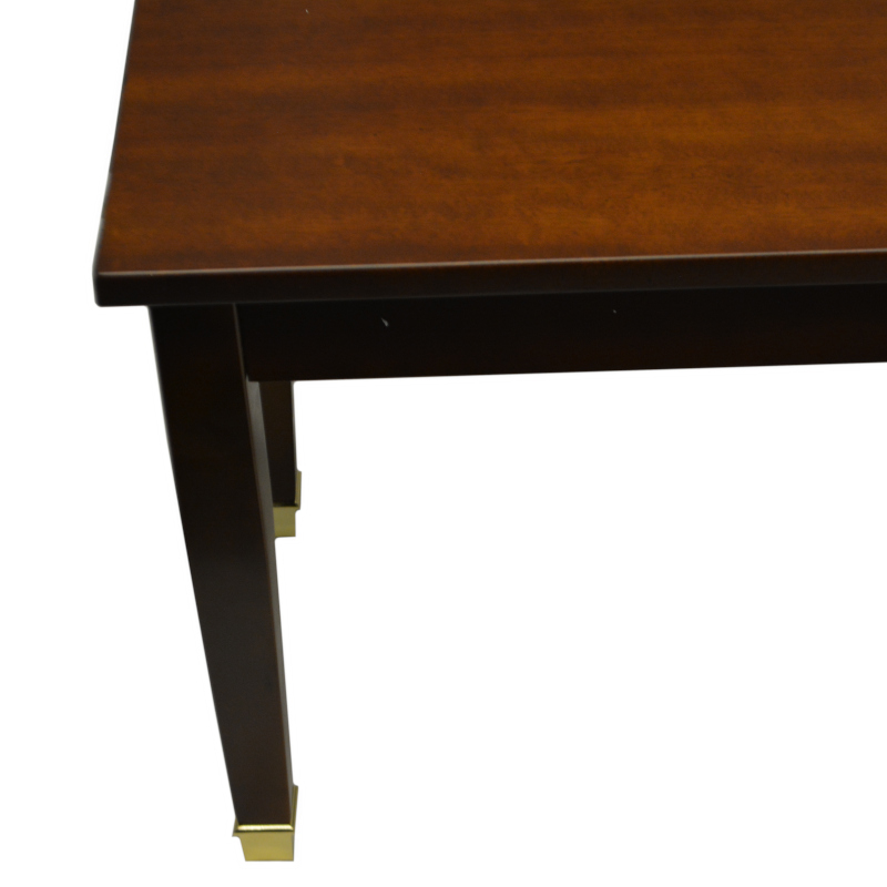 Frederick Piano Bench Walnut Satin with Brass Ferrules