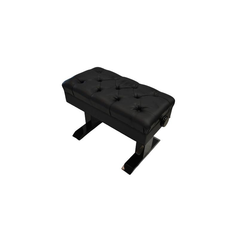 Frederick Elite Adjustable Piano Bench TUFTED - Ebony Polish