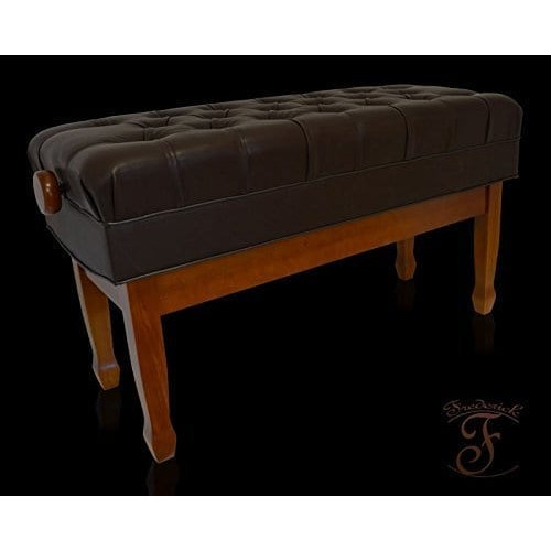 Frederick Concert Duet Artist Adjustable Piano Bench Walnut Satin