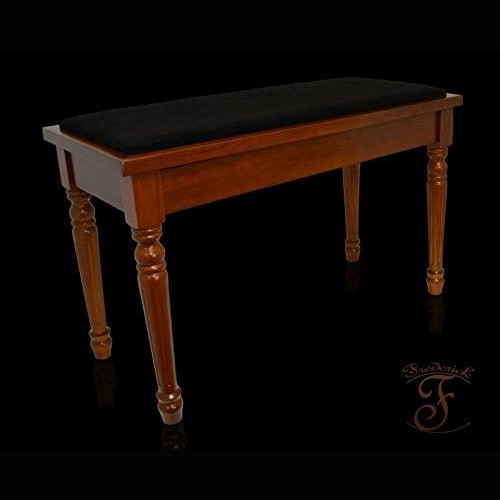 Frederick Duet Piano Bench - Walnut Satin With Louie Legs