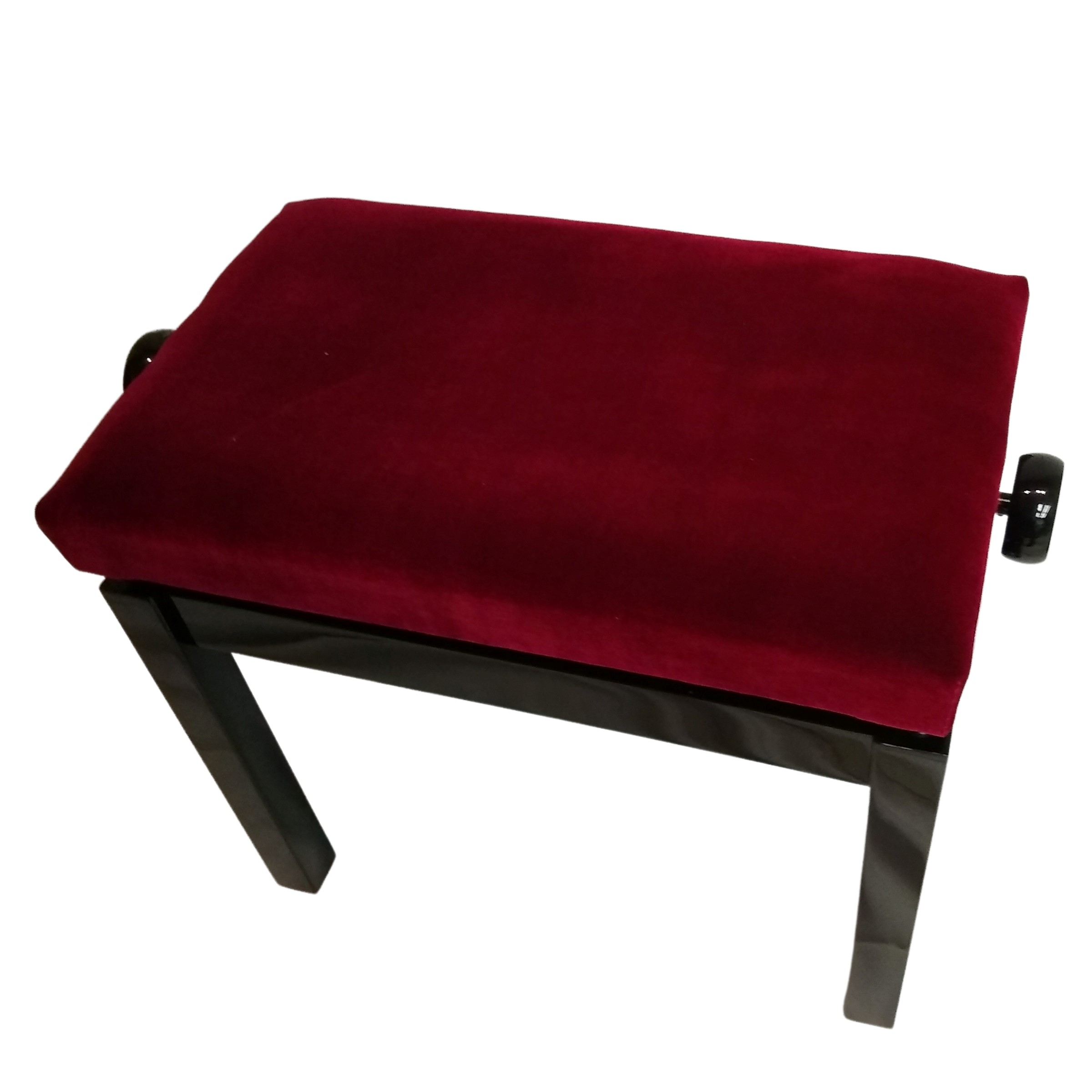 Fredrick Royal Wine Red Black Polish Adjustable Piano Bench