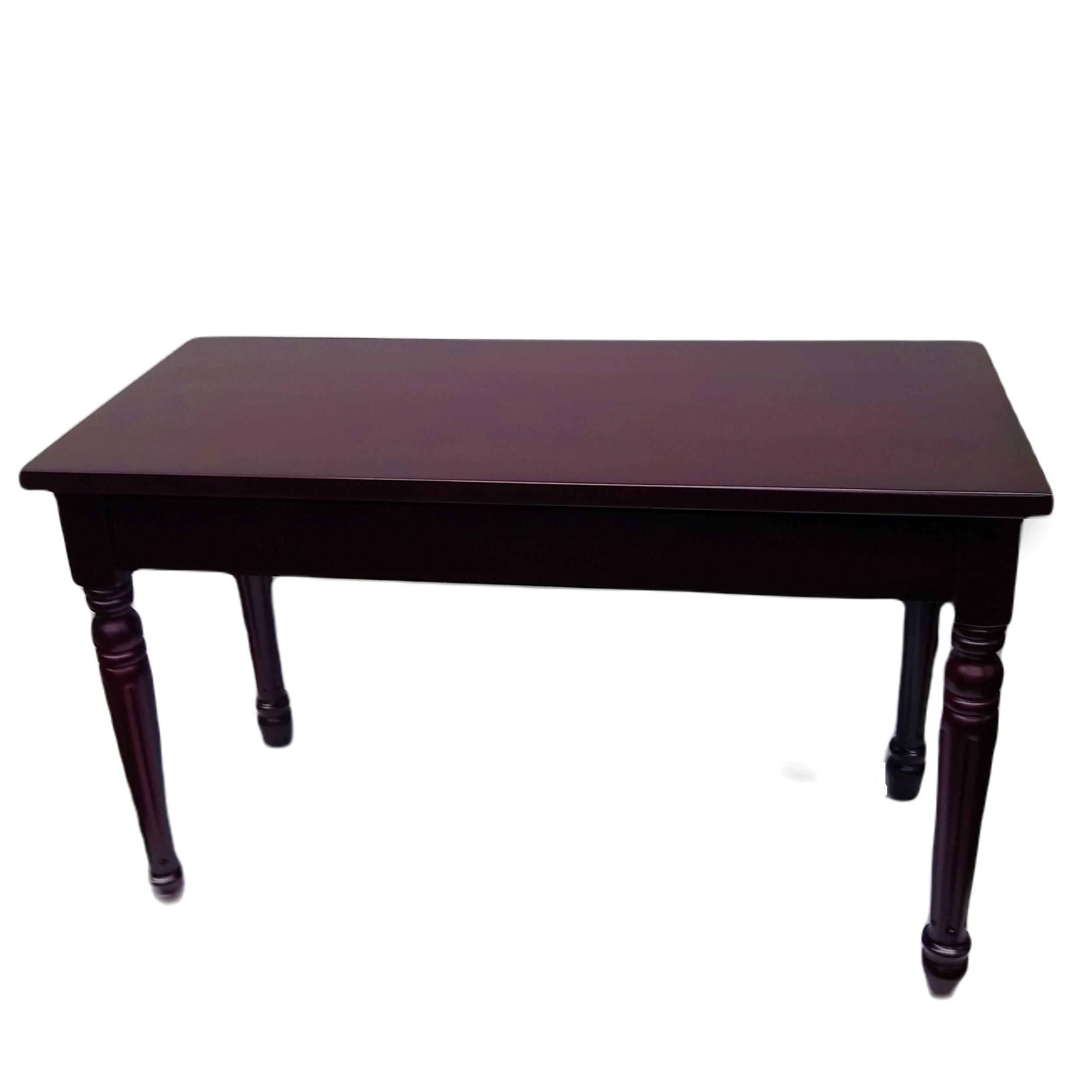 Frederick Duet Louis Piano Bench Mahogany Satin Hard Top